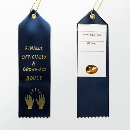Official Grown Ass Adult - Award Ribbon Card