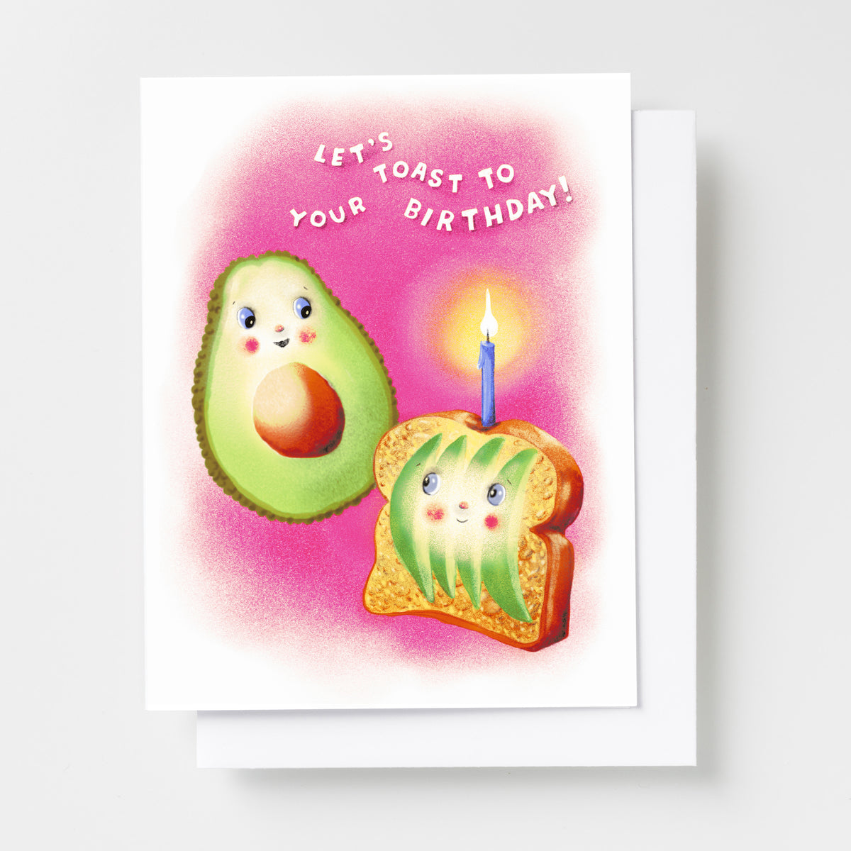 Avocado Toast to Your Birthday - Risograph Card