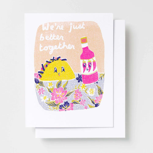 Better Together Taco - Risograph Card