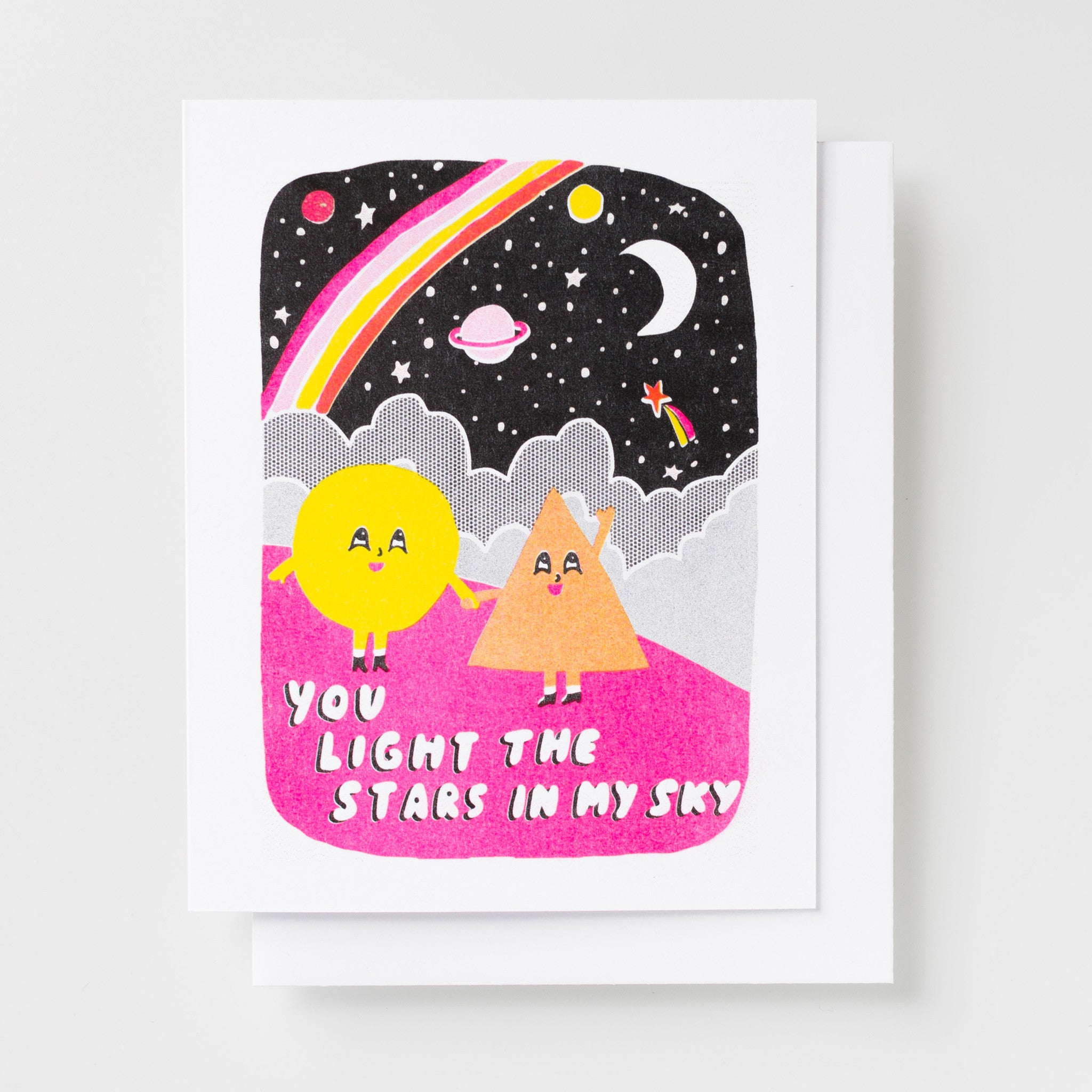 You Light The Stars - Risograph Card