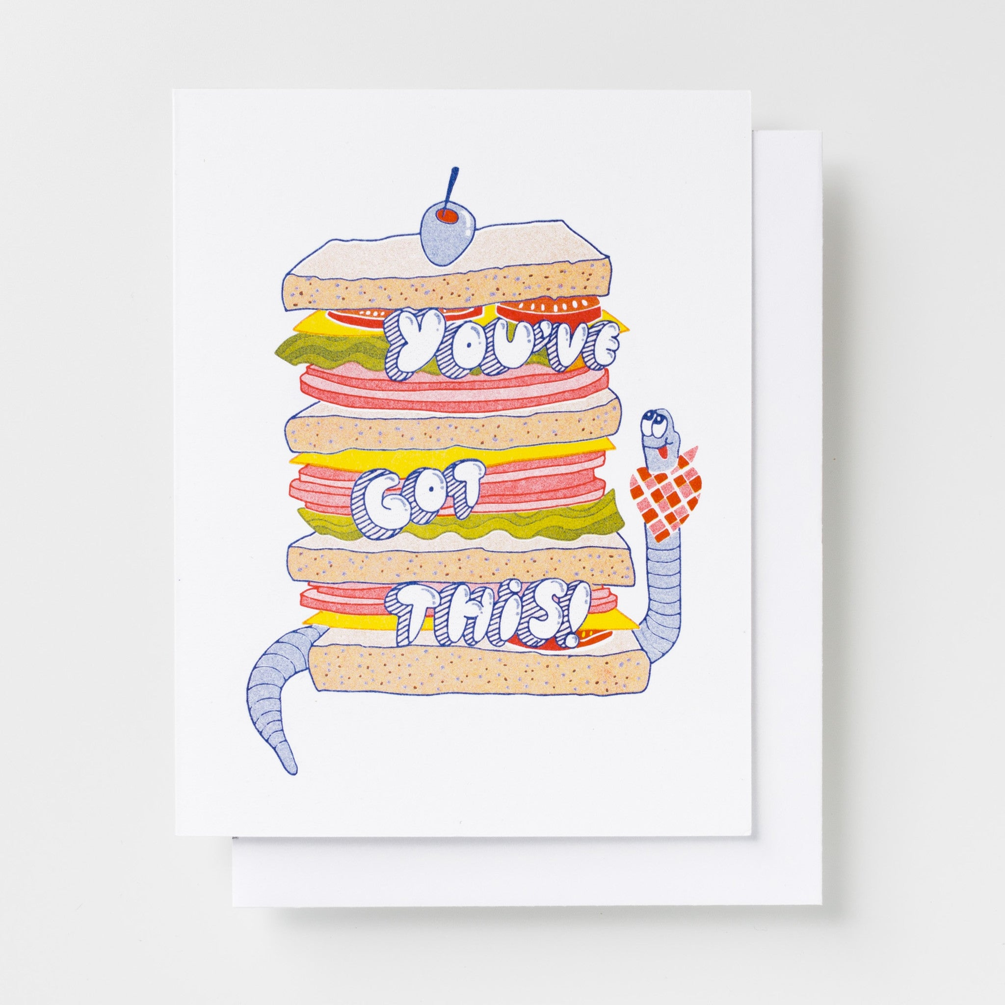 You've Got This! - Risograph Card