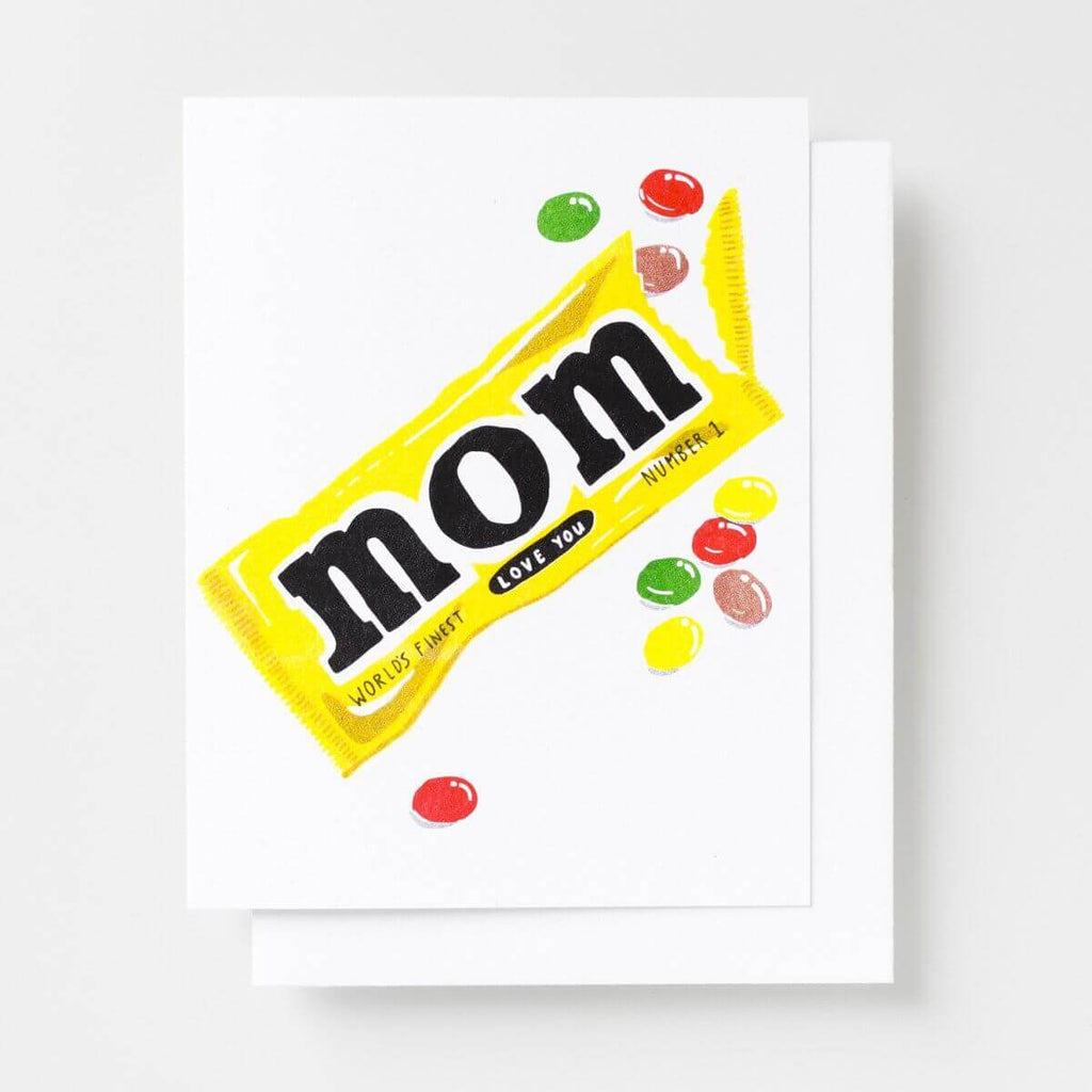 Love You Mom - Risograph Card
