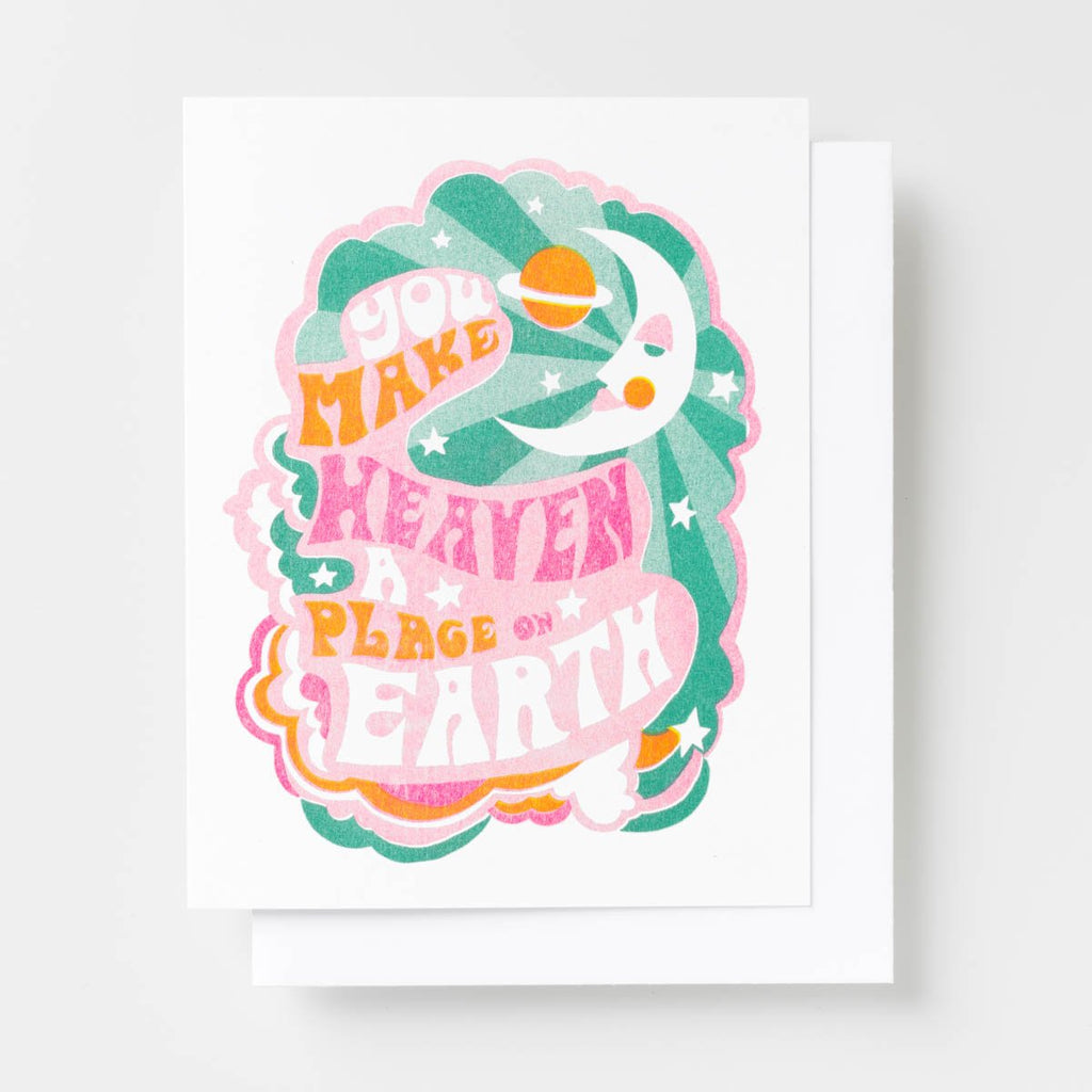 You Make Heaven A Place On Earth - Risograph Card
