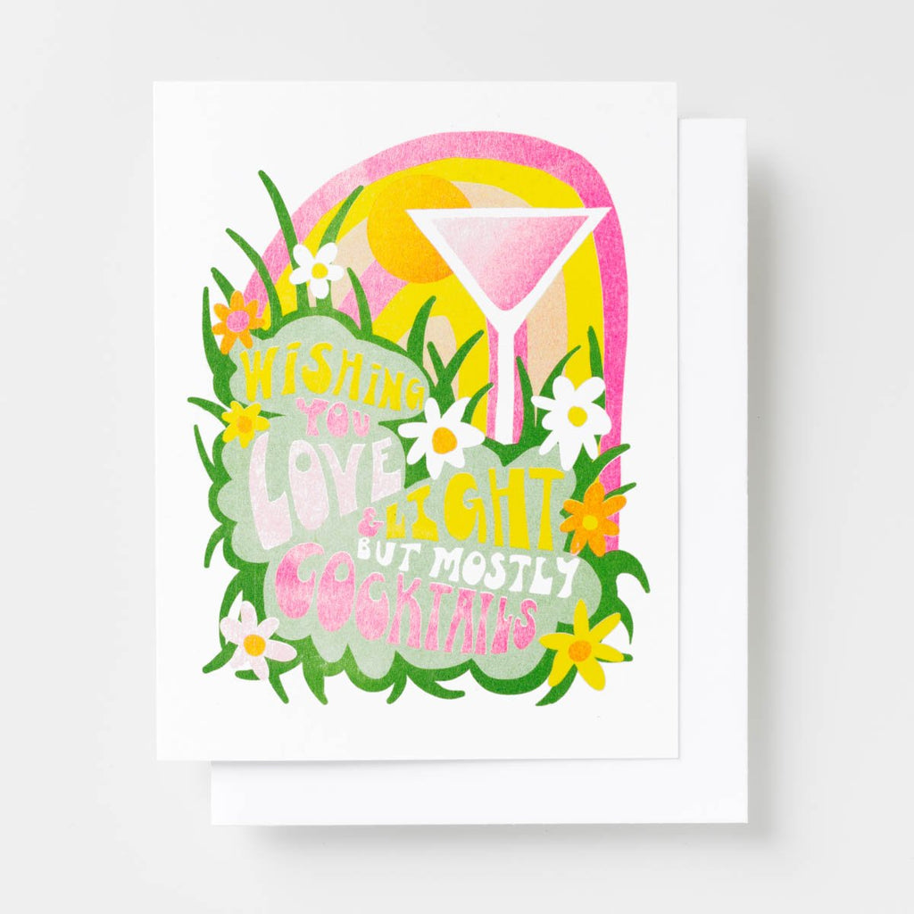 Love & Light Cocktails - Risograph Card