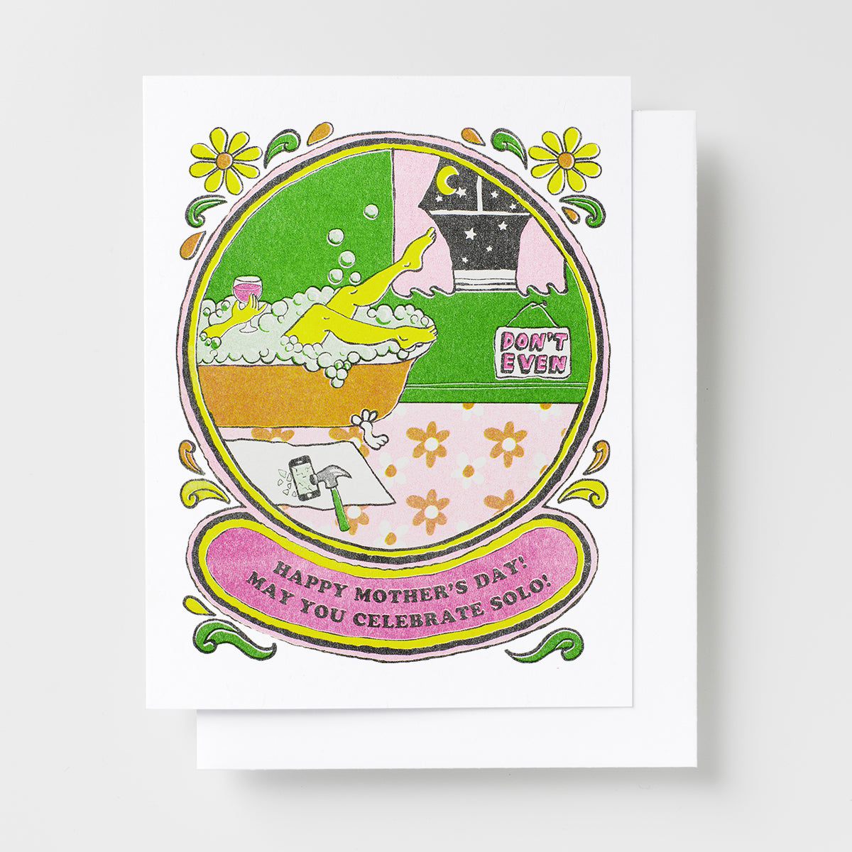 Happy Mothers Day Celebrate Solo! - Risograph Card