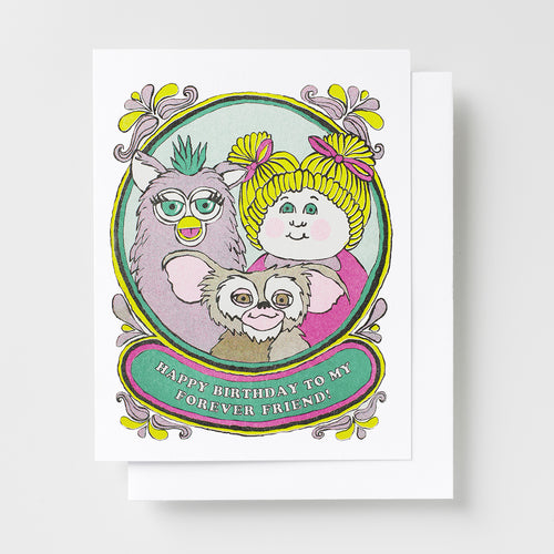 Happy Bday Forever Friend - Risograph Card
