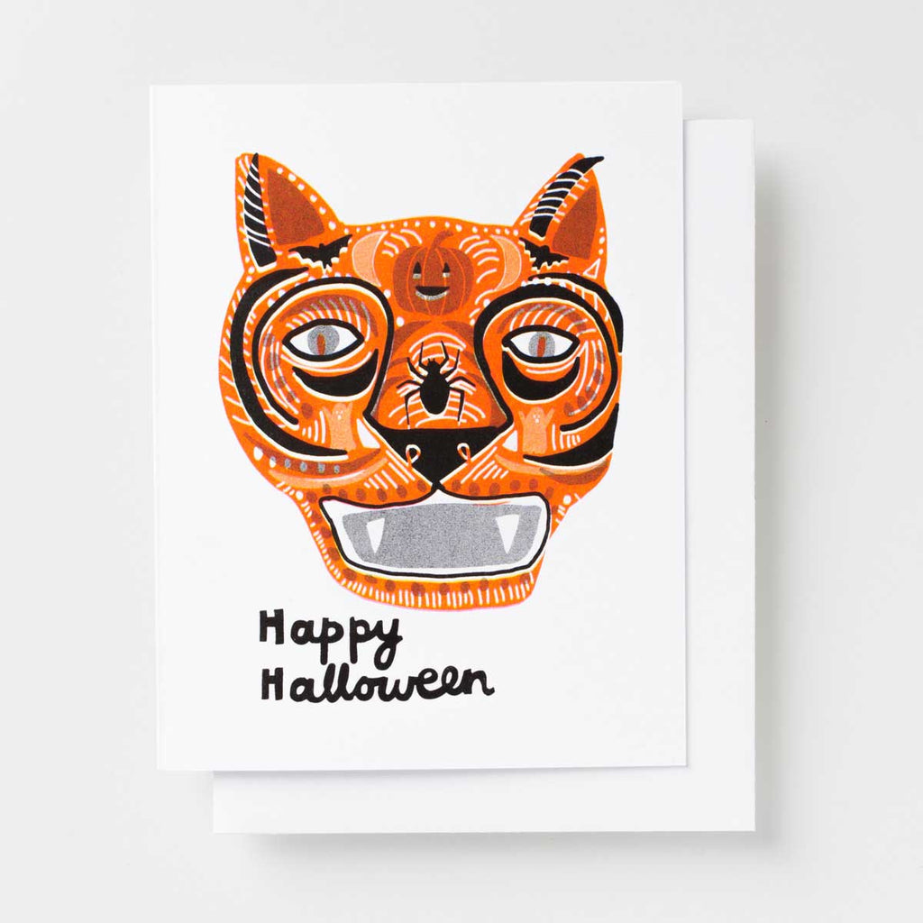Happy Halloween Risograph greeting card