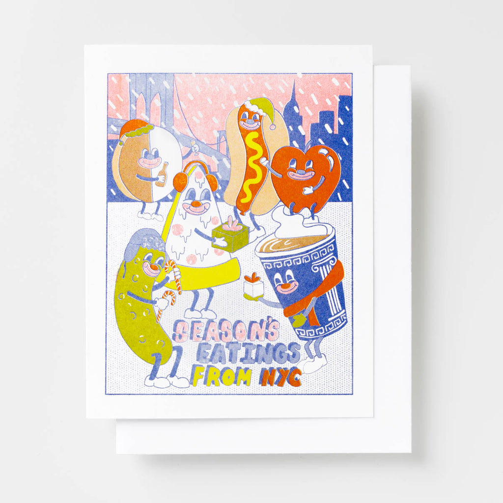 NYC Season's Eatings - Risograph Card