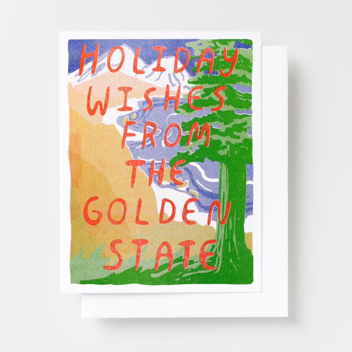 Golden State Holiday - Risograph Card