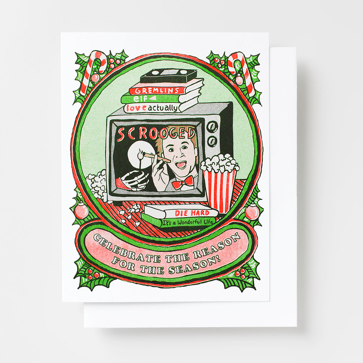 Celebrate the Reason For the Season - Risograph Card