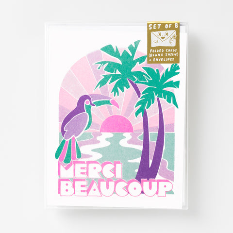 Tropical Merci Beaucoup - Risograph Card Set