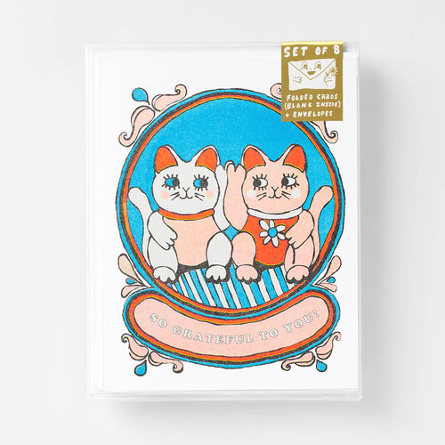 So Grateful To You - Risograph Card Set