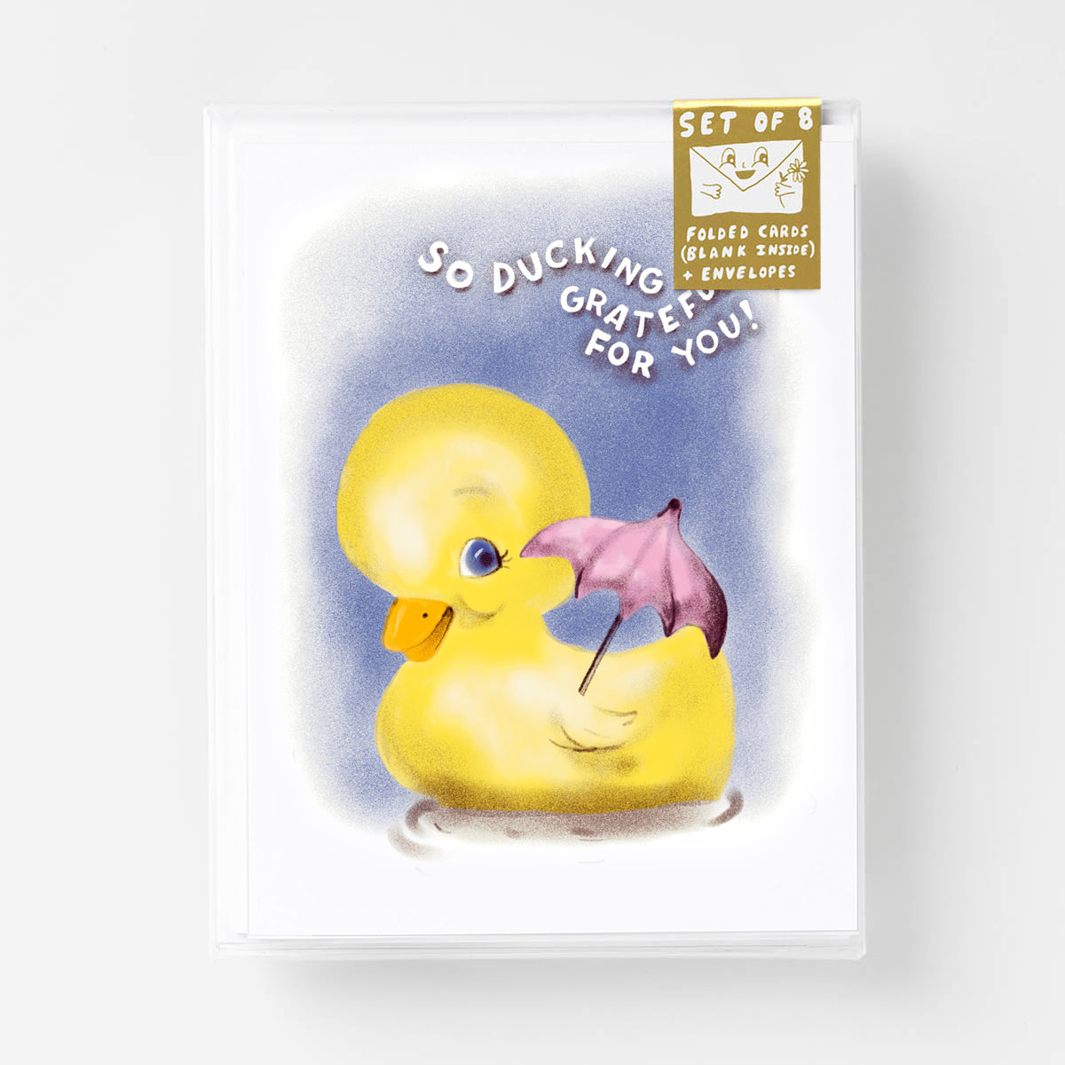 CSR213 So Ducking Grateful For You! - Risograph Card Set