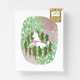 Magical Holiday Unicorn - Risograph Card Set