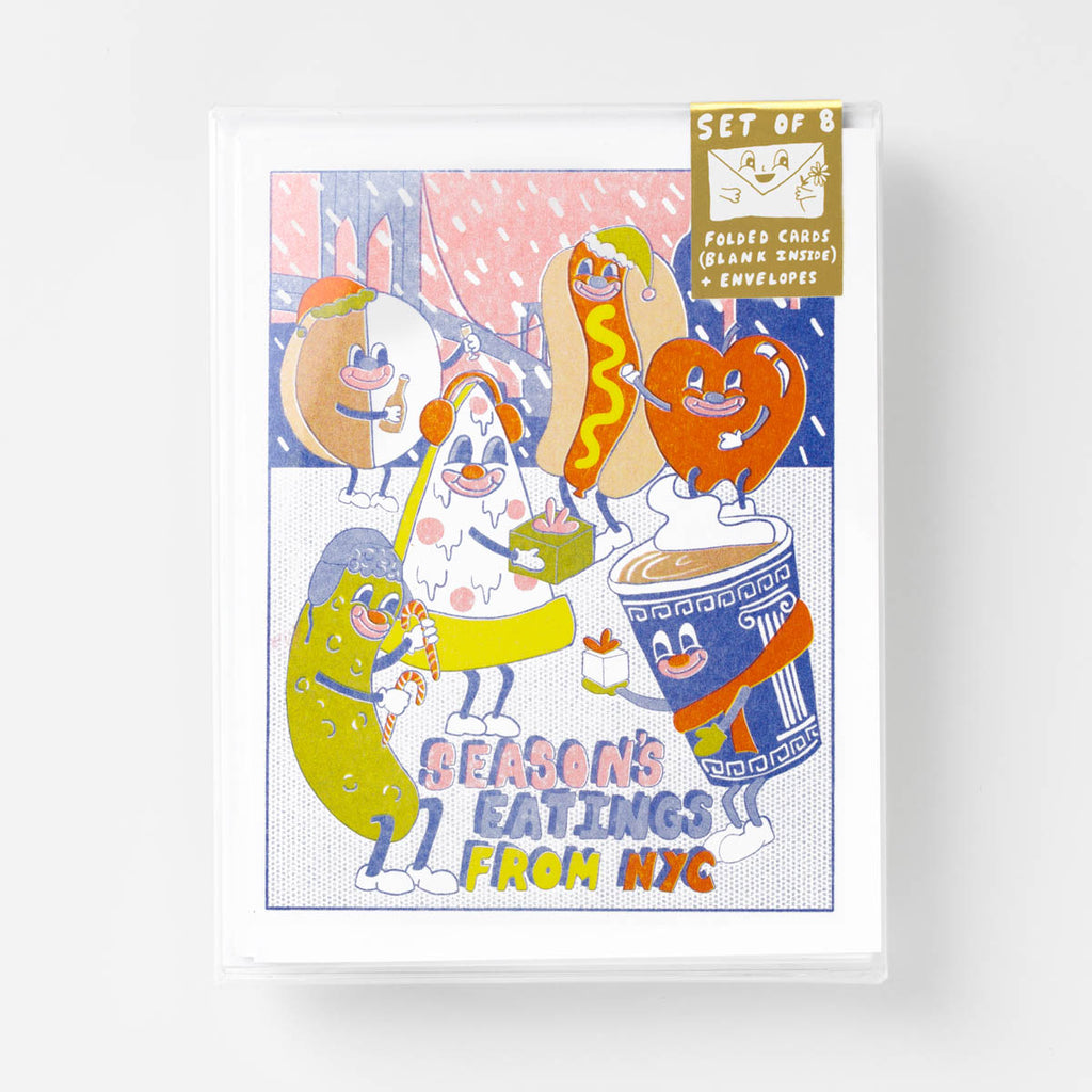 NYC Season's Eating - Risograph Card Set