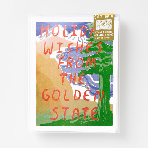 Golden State Holiday - Risograph Card Set
