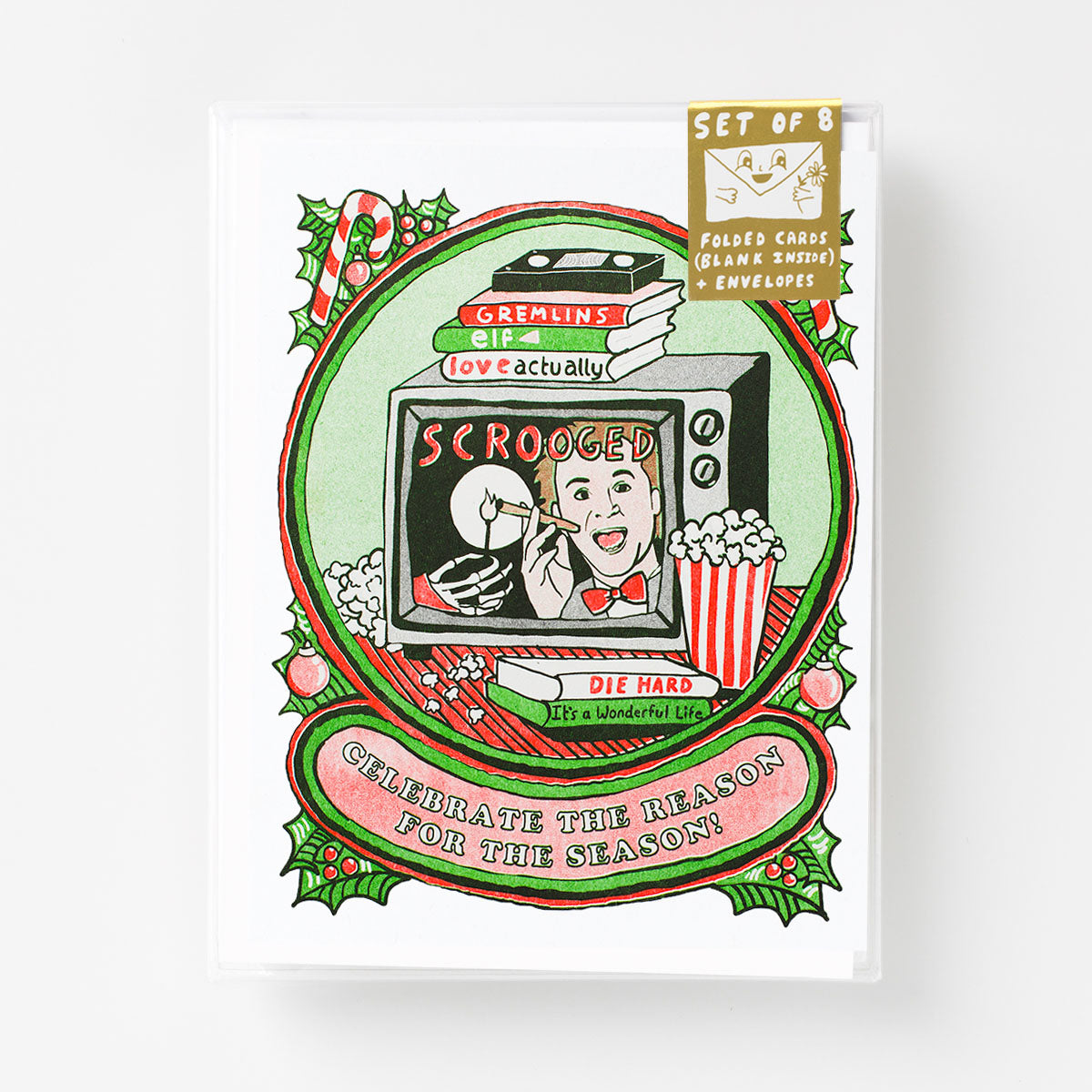 Celebrate The Reason For Season - Risograph Card Set
