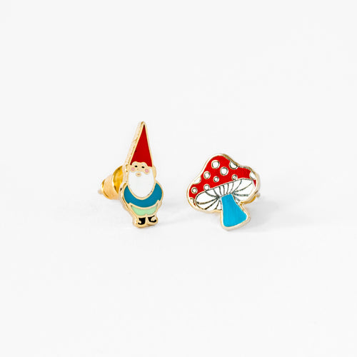 Gnome & Mushroom Earrings