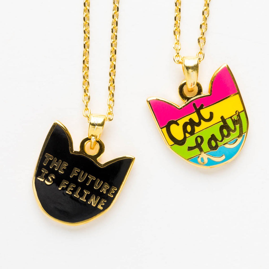 Cat Lady - Double Sided Pendant