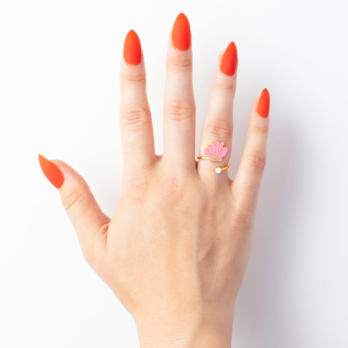 Seashell & Pearl Ring