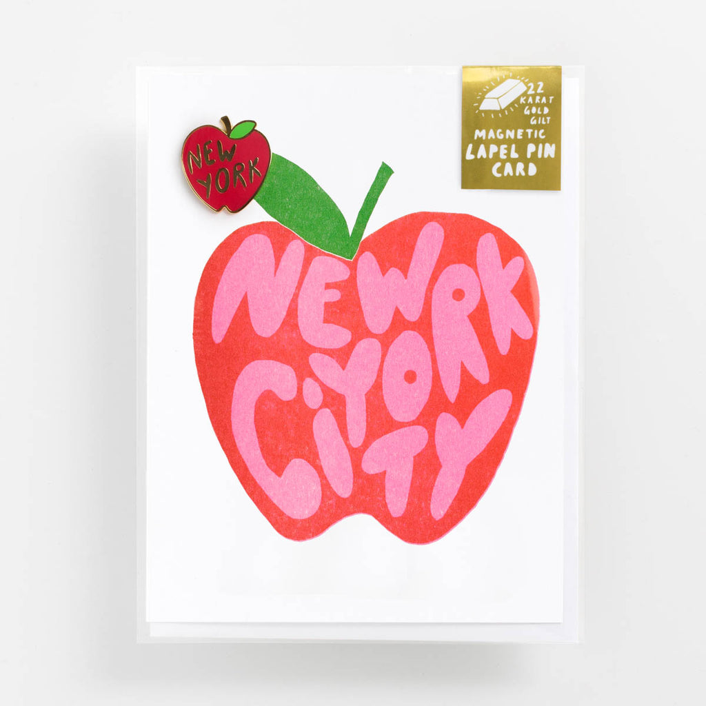 New York City - Lapel Pin Card