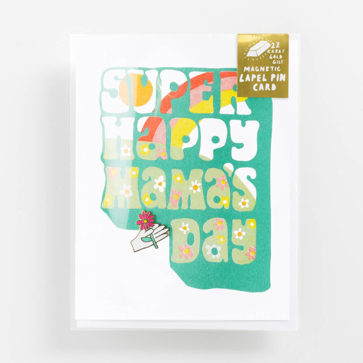 Super Happy Mamas Day - Lapel Pin Card