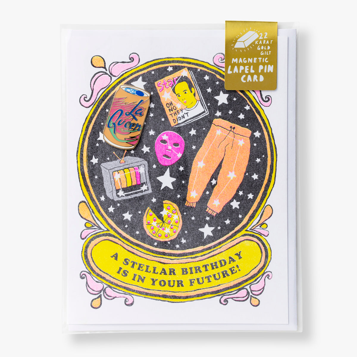 Stellar Birthday - Lapel Pin Card