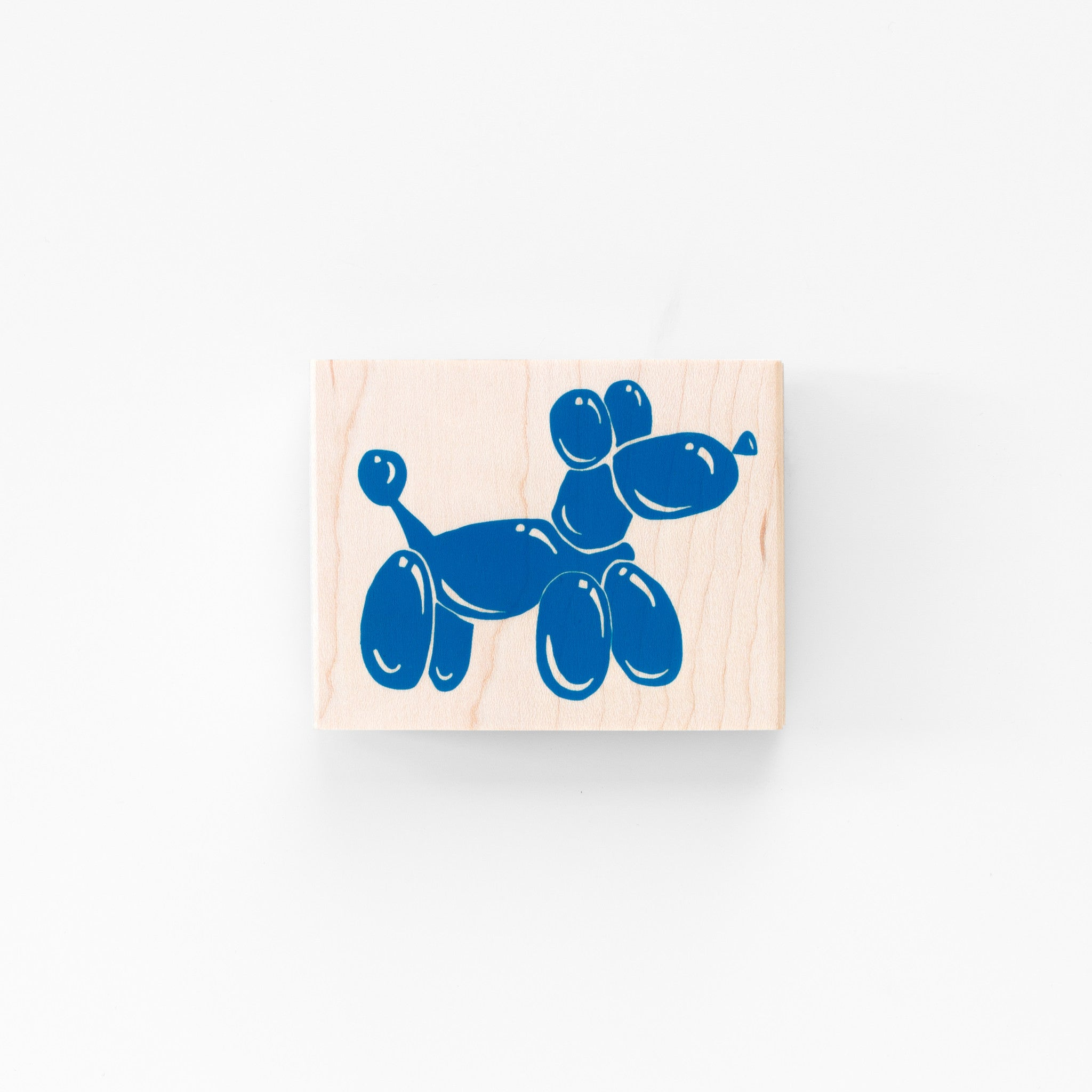 Balloon Animal Dog Rubber Stamp Modern Graphic