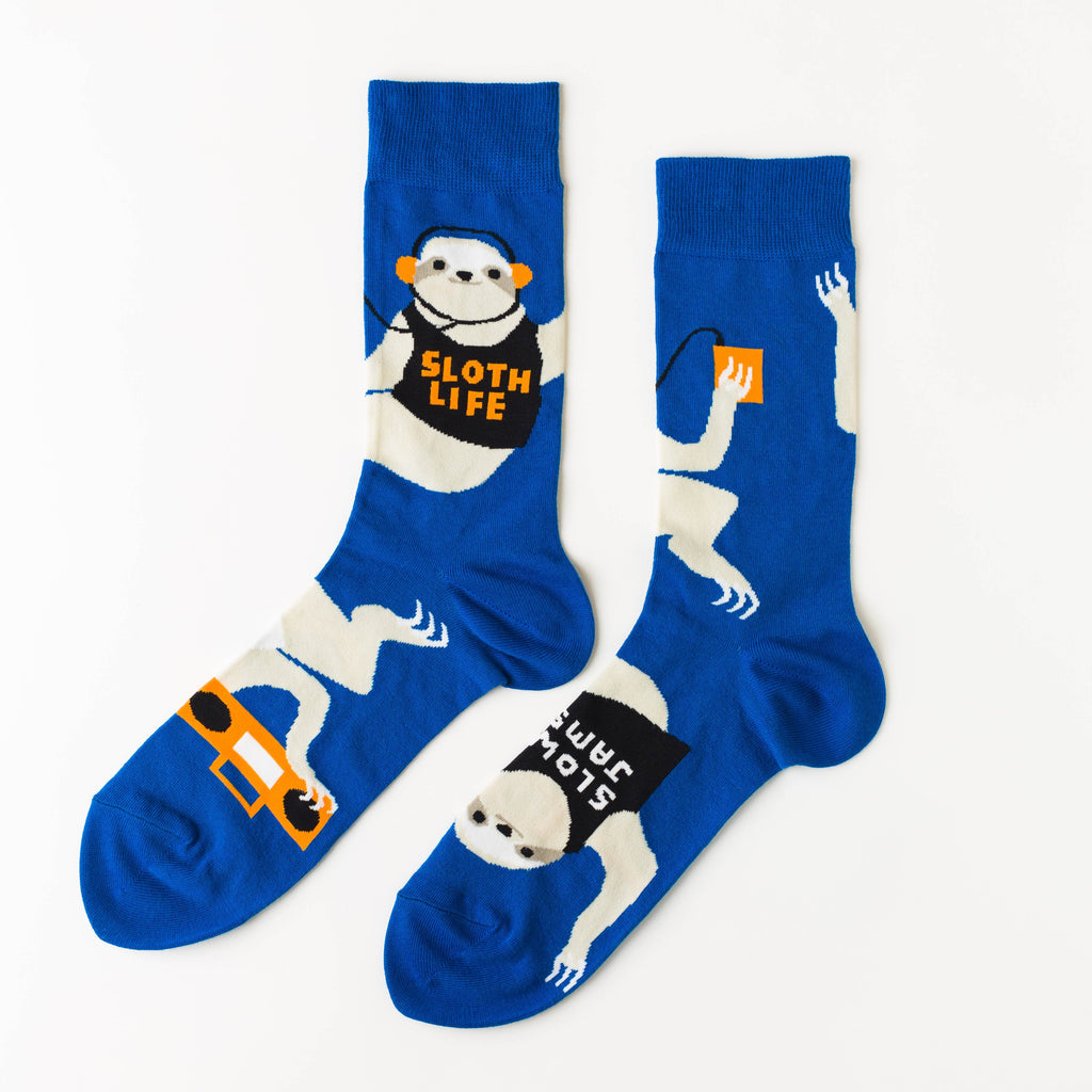 Sloth Life Crew Socks - Mens