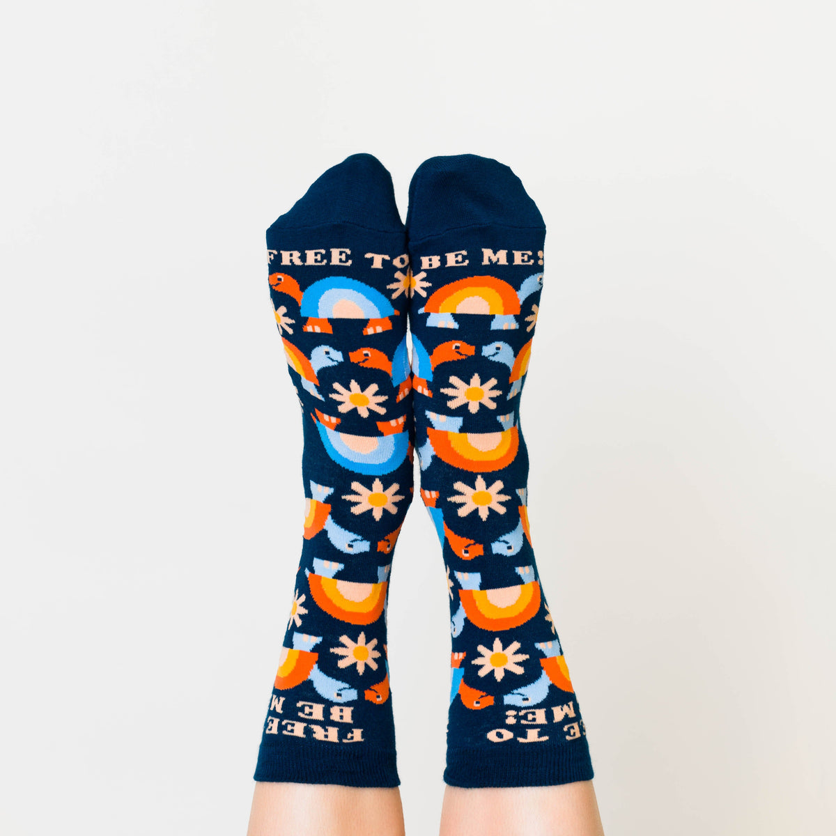 Free To Be Me Crew Socks - Womens