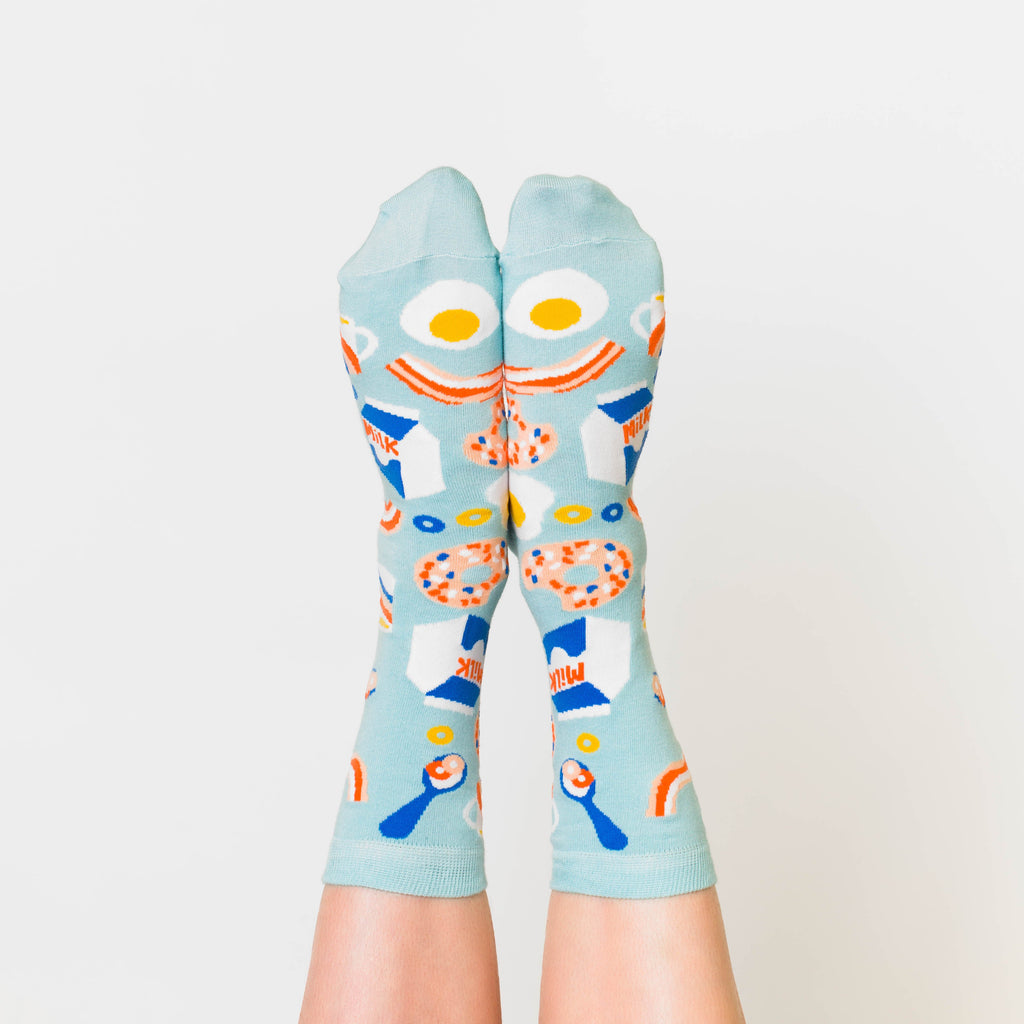 Breakfeast Crew Socks - Womens