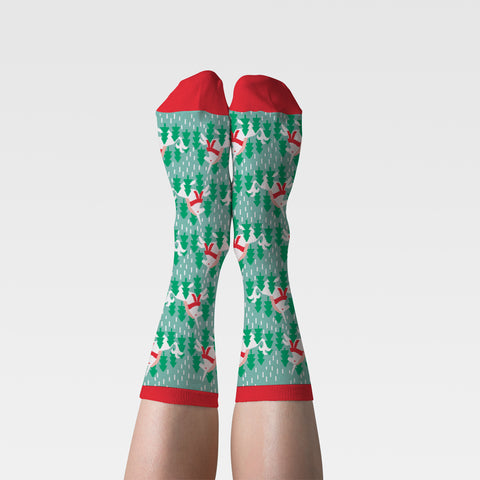 Holiday Unicorn Crew Socks - Women's