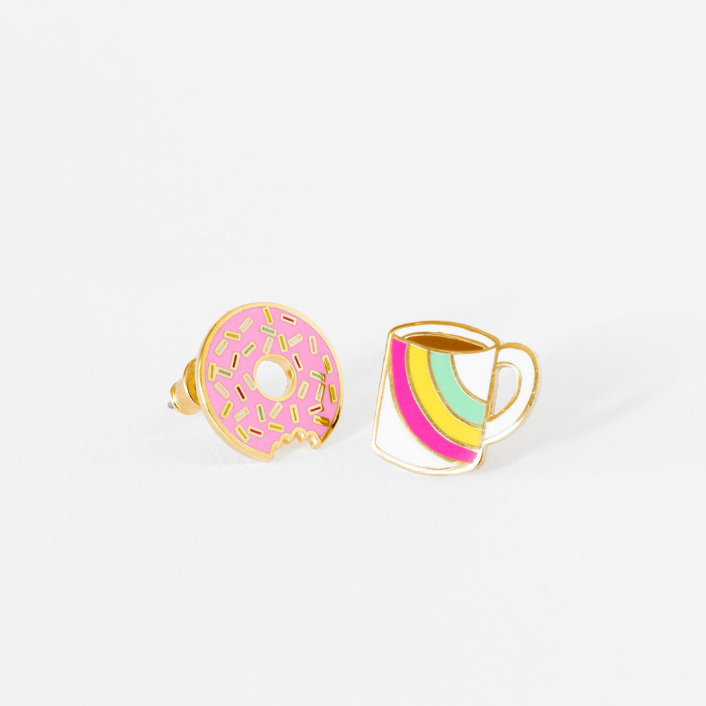 Coffee & Donut Earrings