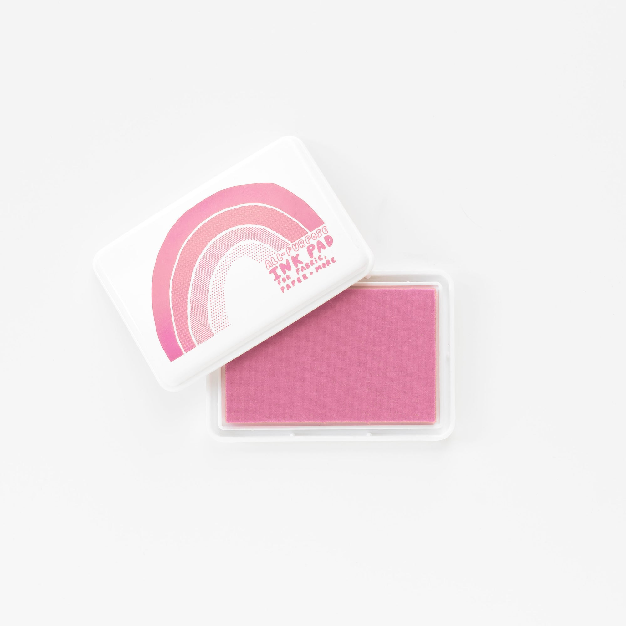 All-Surface Pink Ink Pad - For Paper, Fabric, and More