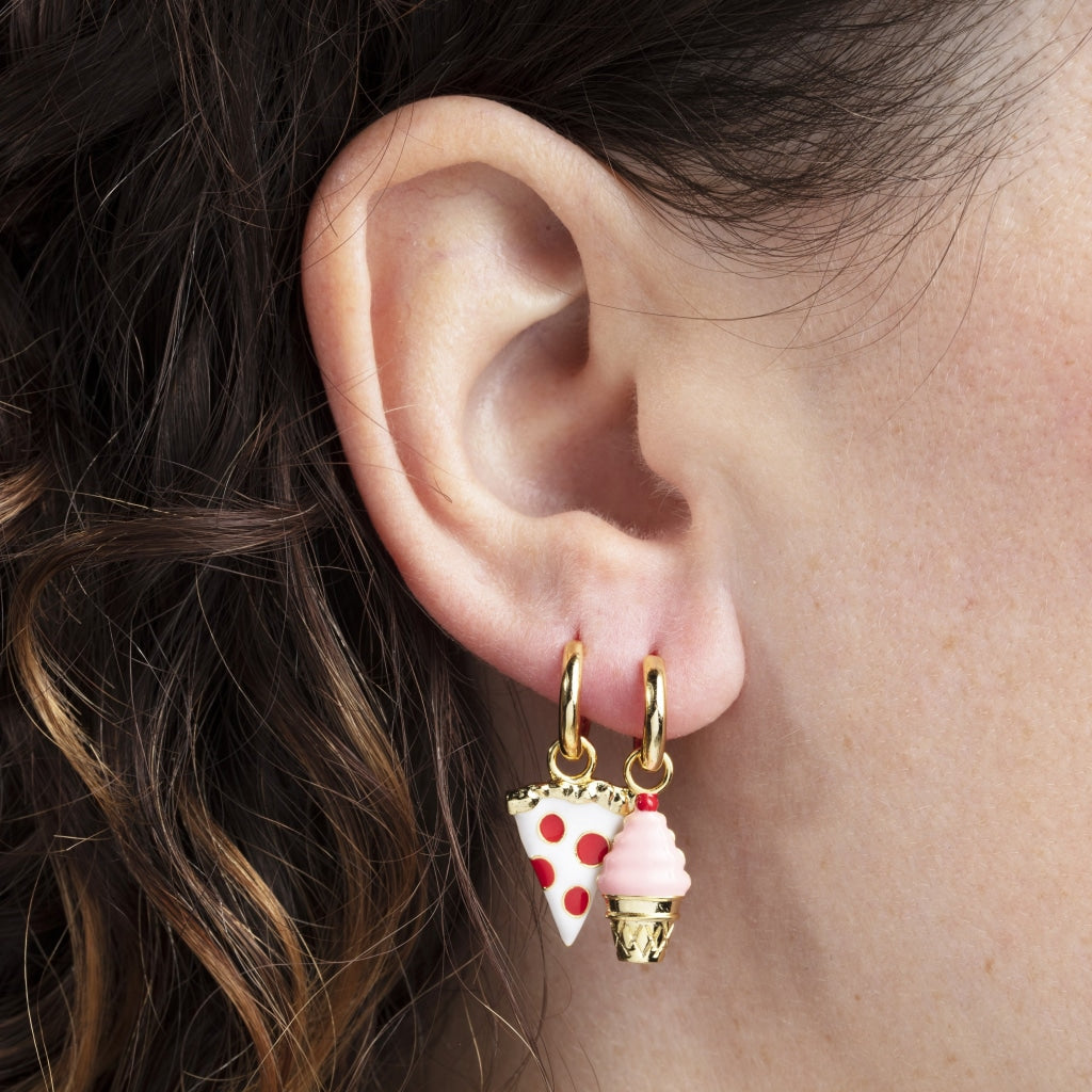 Pizza & Ice Cream Hoop Earrings