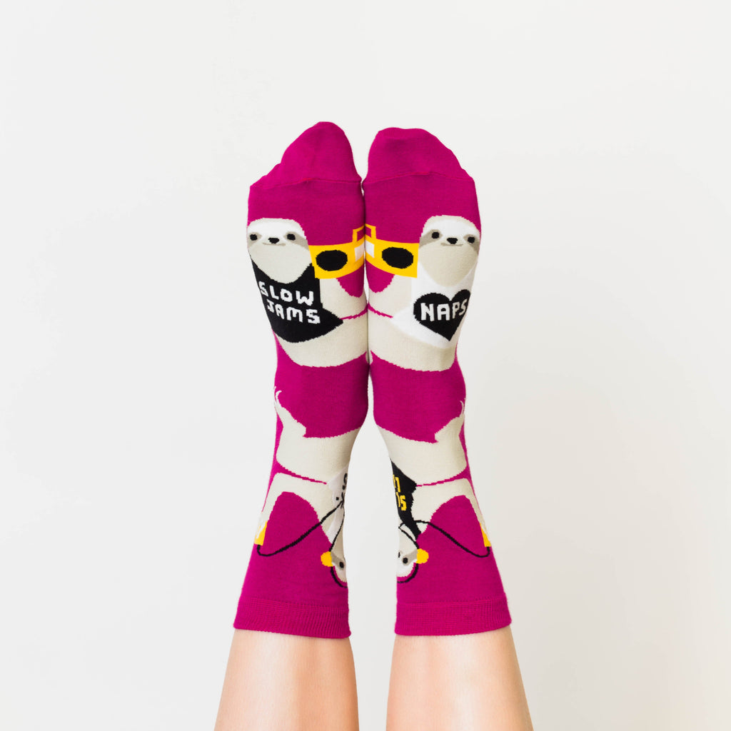 Sloth Life Crew Socks - Womens