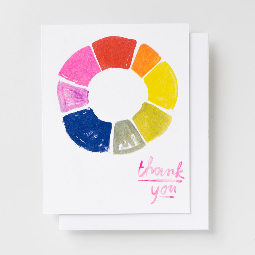 Thank You Color Wheel - Risograph Card Set