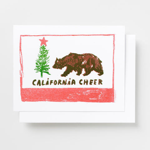 California Cheer holiday risograph greeting card