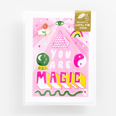 You Are Magic - Lapel Pin Card