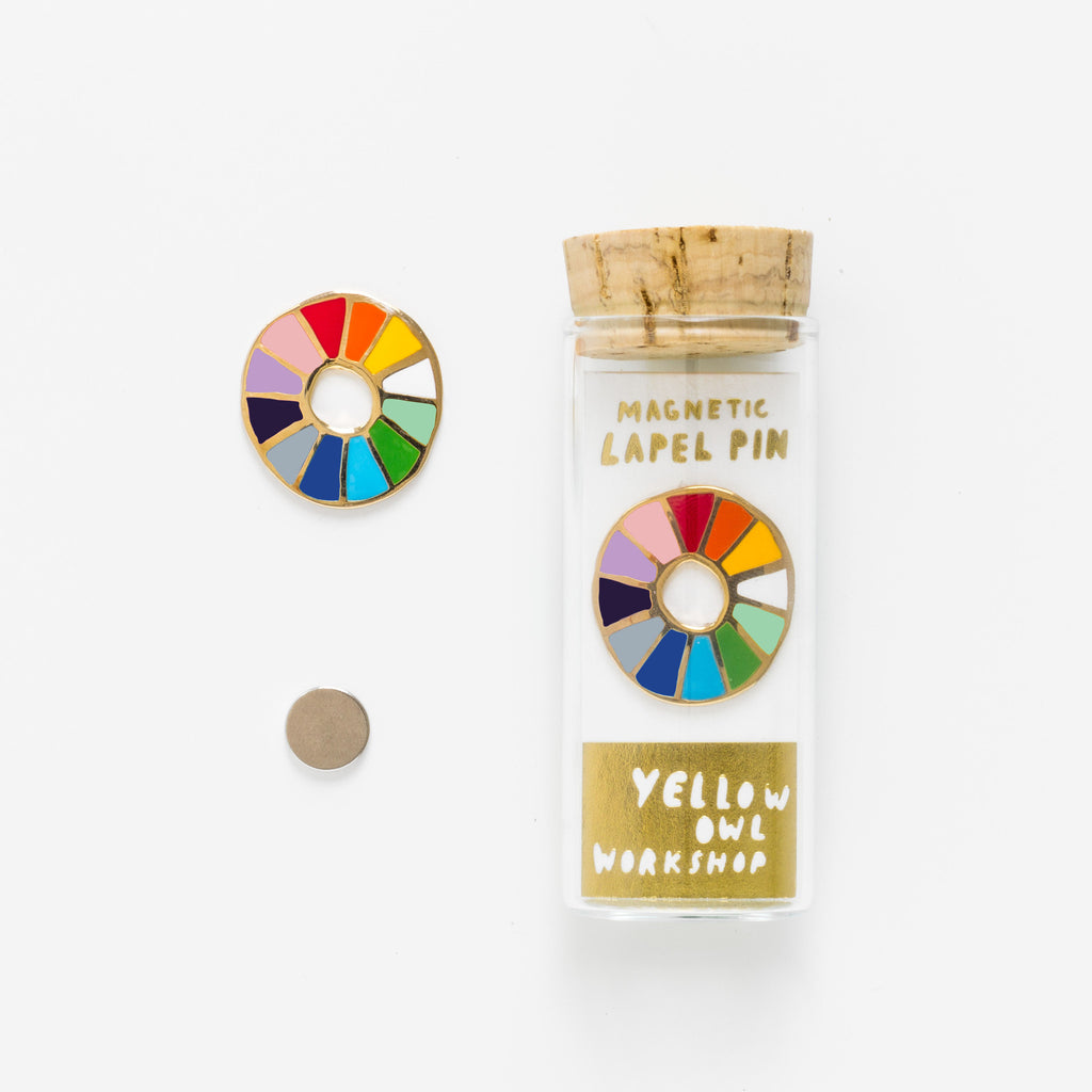 Color Wheel Lapel Pin