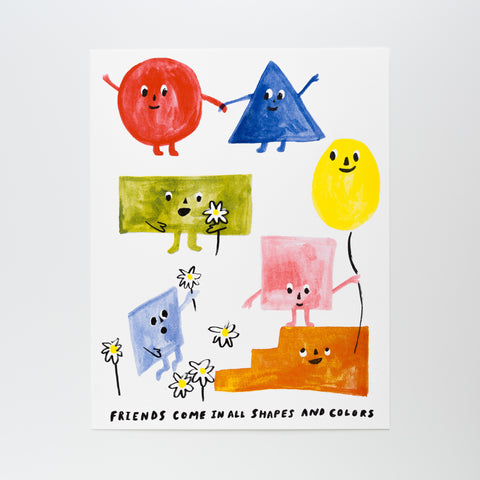 Friends of All Shapes - Risograph Print