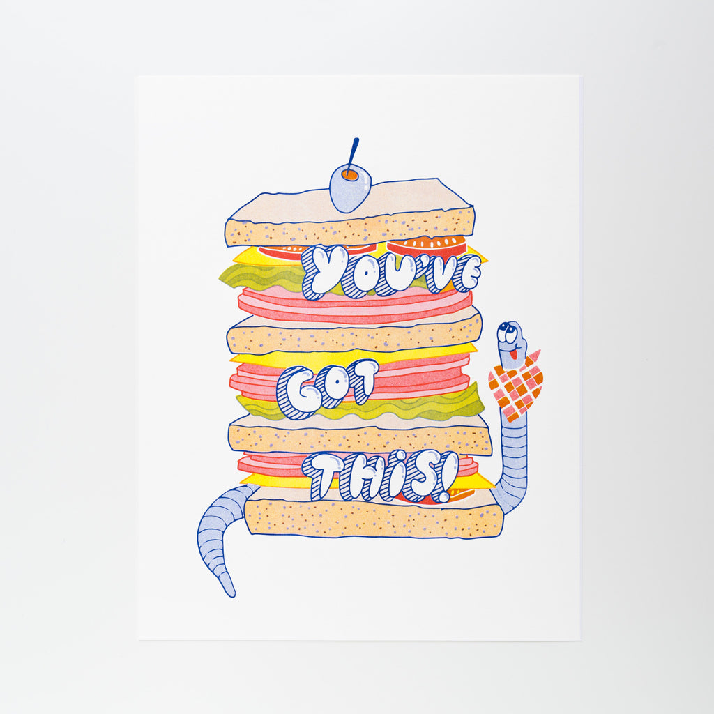 You've Got This! - Risograph Print