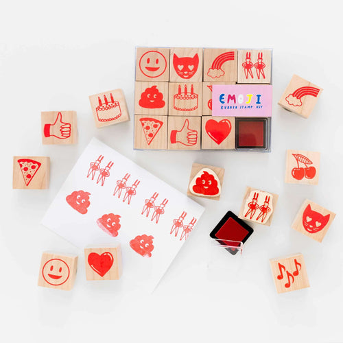 Emoji Rubber Stamp Kit