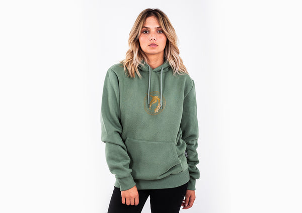 Military Green Hoodie  - Unicorn Print