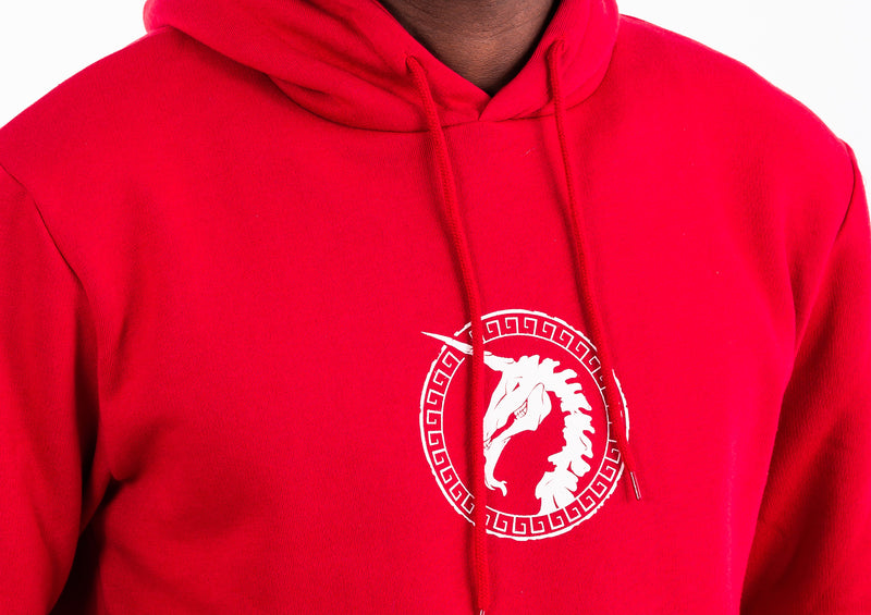Dark Red Hoodie - Unicorn Print