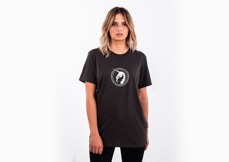 Dark Grey T-shirt - Unicorn Print