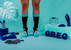 Smart - Black and Cyan Blue Socks