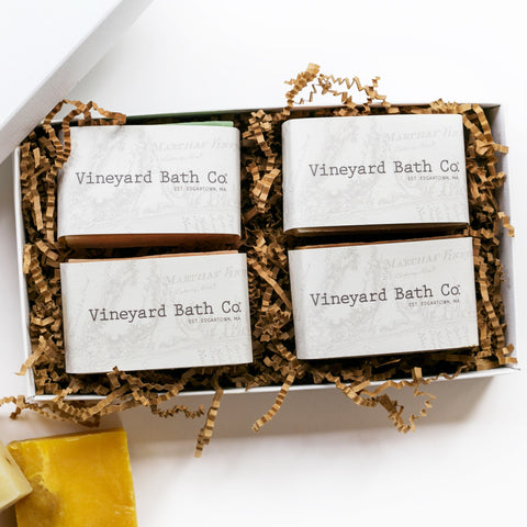 4 Piece Box Soap Set