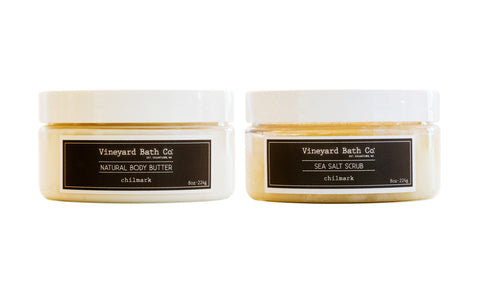 Chilmark Body Butter + Sea Salt Scrub Set