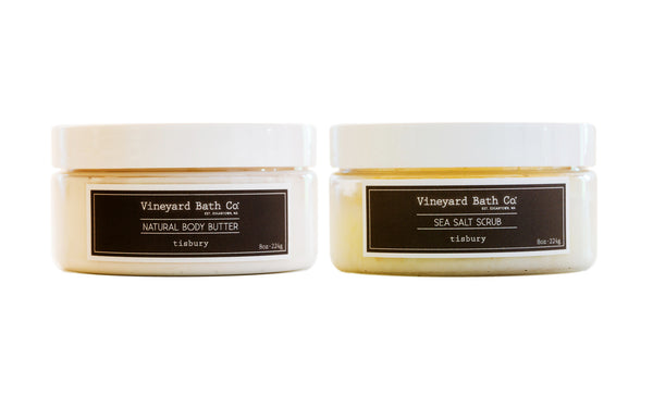 Tisbury Body Butter + Sea Salt Scrub Set